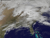 GOES image of weather system over Eastern United States