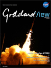 cover of Goddard View showing ATREX launch
