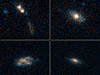 These four galaxies have so much dust surrounding them, their quasars cannot be seen.