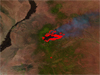 satellite image of Little Bear Fire