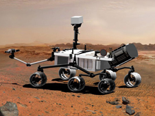 Artist's concept of the Mars Science Laboratory, Curiosity Rover.