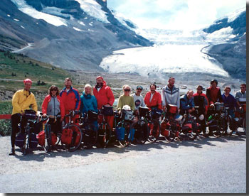 Oren Sheinman with his cycling group