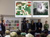 Earthscapes stamp unveiling with Landsat stamp images superimposed