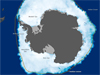 map depicting Antarctic sea ice extent