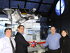 ribbon-cutting of LRO exhibit