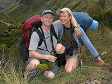 Tom Feild and his wife, Geraldine, in Arthur's Pass, New Zealand
