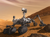 artist concept of Curiosity rover