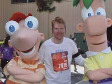 John Putman with Phineas and Ferb
