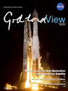 Goddard View cover - rocket launch at night