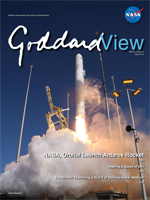 cover of Goddard view showing Antares launch