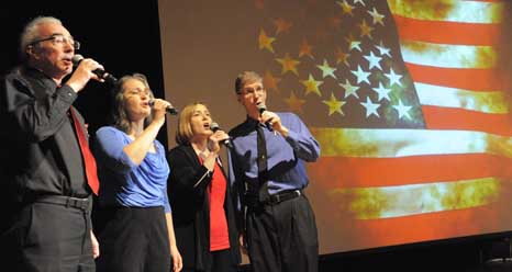 singers at Goddard's 2013 Memorial Day event