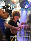 Goddard View cover showing visitors from DeafBlind Camp of Maryland