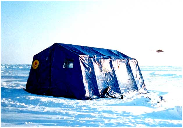 Typical accommodations at the North Pole include heated tents where people can eat sleep & NASA - Top Story - NASA AND NATIVE AMERICAN STUDENTS EXPLORE NORTH ...