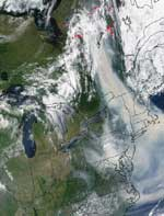 Smoke reaching U.S. from Canadian fires in 2002