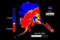 ALASKA'S FREEZE AND THAW BY SATELLITE
