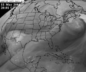 Satellite Water Vapor Images on TV News