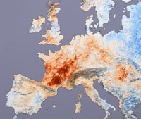 European Heat Wave, July 2003