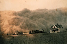 Dust bowl image from the 1930's