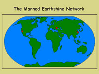 Map of the Manned Earthshine Network
