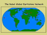 Map of the Robotic Earthshine Network