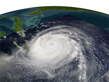 Image of Hurricane Frances from MODIS