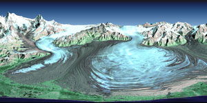 image of the Malaspina Glacier