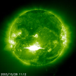 SOHO's observation of the flare