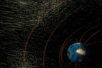 The solar wind is normally deflected by Earth's magnetic field