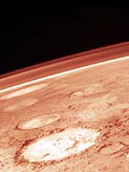 Dusty Martian atmosphere seen from Viking spacecraft