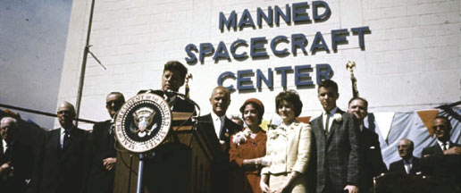 president john f kennedy and the space exploration race Fifty years ago wednesday, president john f kennedy presented nasa and the nation with a historic challenge: to put a man on the moon and return him safely to earth before the end of the 1960s.