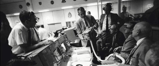 NASA managers in MCC during Apollo 13