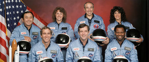 The seven Challenger crewmembers who lost their lives