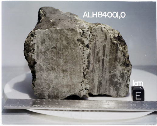 4.5-billion-year-old rock labeled meteorite ALH84001