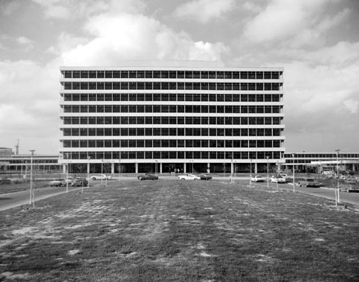 A view of Building 1 taken in 1964