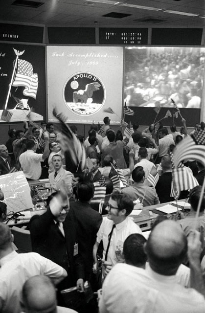 Apollo 11 splashdown celebration