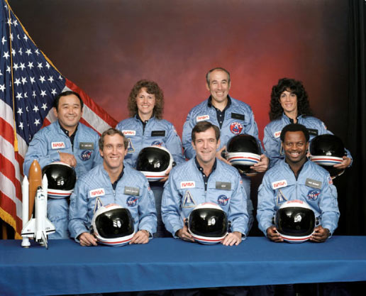 The seven Challenger crewmembers lost their lives following an explosion