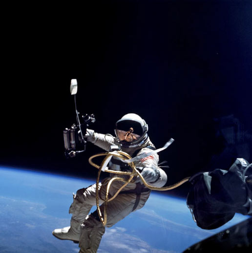 Astronaut Edward H. White II floats in space