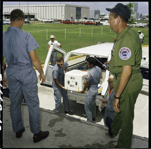 The first Apollo 11 sample return container