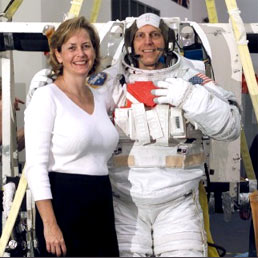 Astronaut Clayton Anderson is pictured with wife, Susan