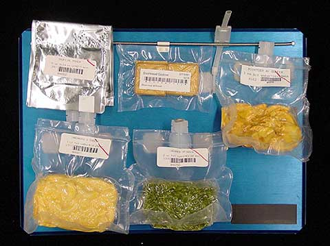 Space food tray