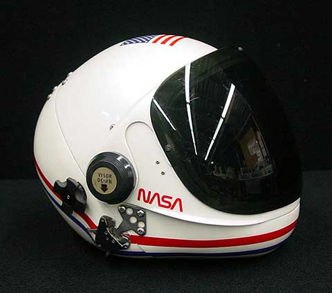 Shuttle launch helmet