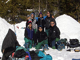 JSC2006-E-18635 -- A group of astronauts participates in training in the Absaroka Mountains.