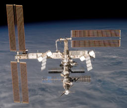 s116e07153 -- The International Space Station as seen from Space Shuttle Discovery during STS-116