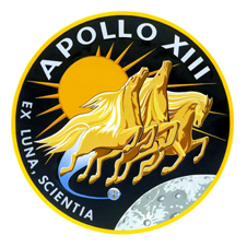 The insignia of the Apollo 13 lunar landing mission