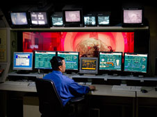Atmospheric Reentry Materials and Structures Evaluation Facility Control Room