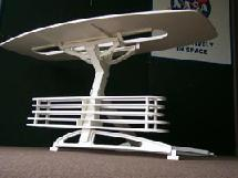 Full scale prototype of wardroom table concept for International Space Station