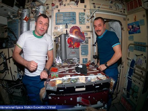 International Space Station Expedition 3 Meal