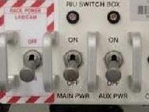 Rack power switch label designed for MELFI