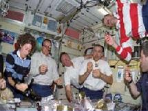Space food on International Space Station
