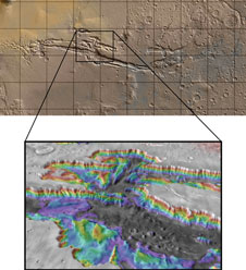 Valles Marineris canyon